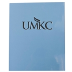 UMKC Light Blue Laminated Folder