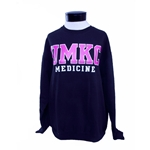 UMKC Pink Text School of Medicine Black Crew Neck Sweatshirt