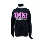 UMKC Pink Text School of Dentistry Black Crew Neck Sweatshirt