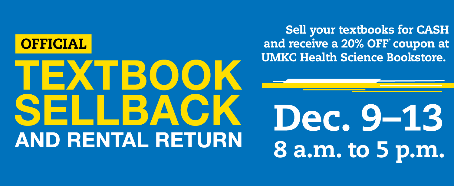 Sellback and Book Return is December 9th through 13th
