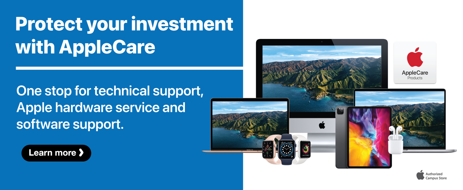 Protect your investment with AppleCare