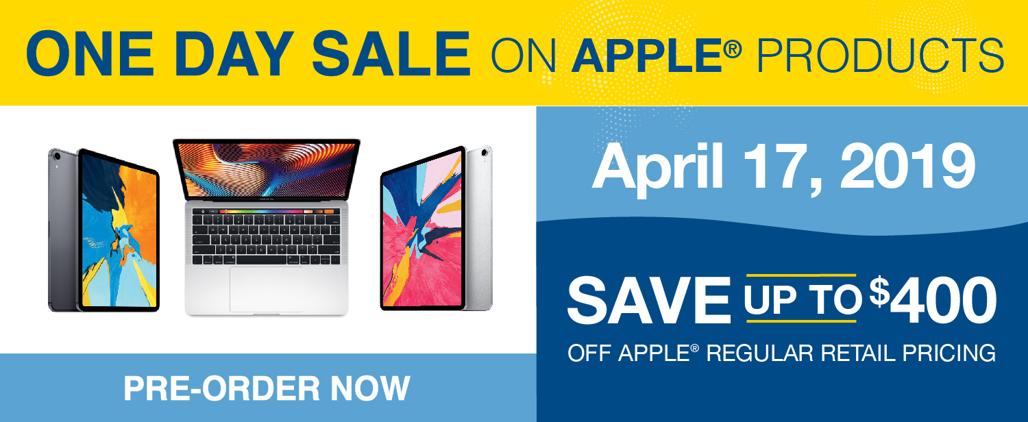 Pre Order for the Apple One Day Sale, April 17