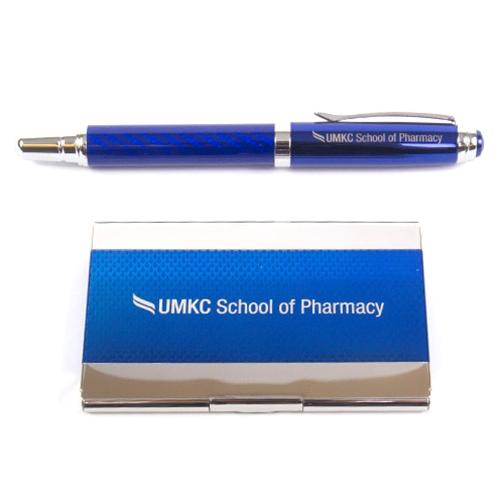 Umkc health sciences bookstore umkc school of pharmacy blue pen umkc school of pharmacy blue pen business card holder gift set colourmoves