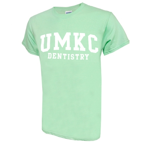 UMKC Dentistry Mint Green Crew Neck T-Shirt