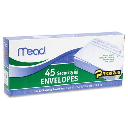 Mead White Self-Adhesive Security Envelopes - 45 Pack