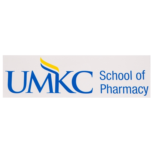 UMKC School of Pharmacy Blue Car Decal