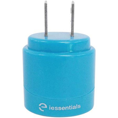 iEssentials 2.1A Dual USB Blue Home Charger