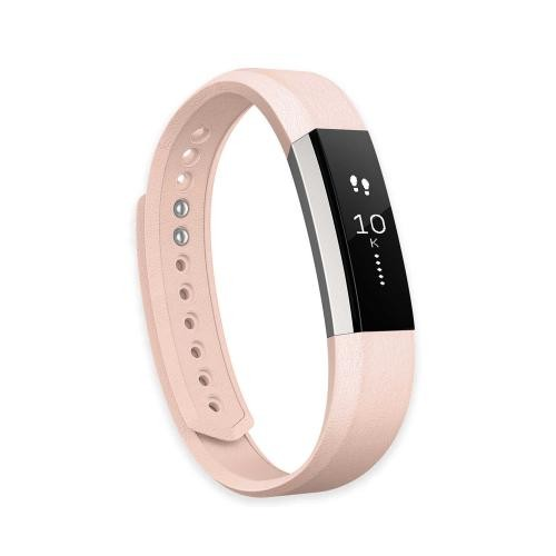 Fitbit Alta Leather Replacement Band, Pink Small