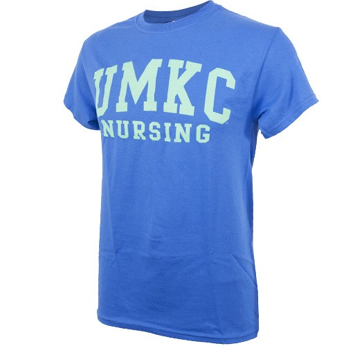 UMKC Nursing Blue & Green Crew Neck T-Shirt