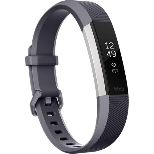 Fitbit Alta HR Activity Tracker - Large, Blue Grey