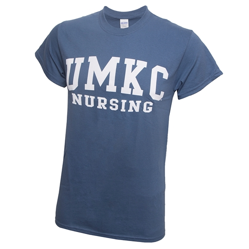UMKC Nursing Blue Crew Neck T-Shirt