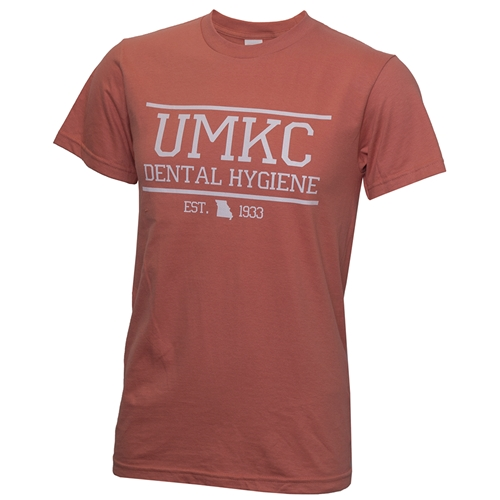 UMKC Dental Hygiene Apricot Crew Neck T-Shirt