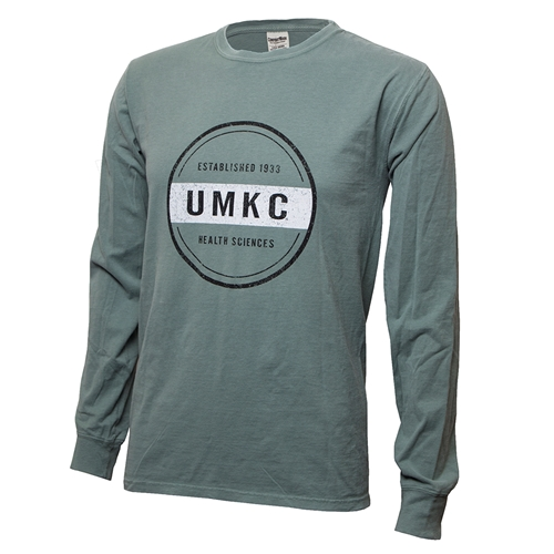 UMKC Established 1933 Health Sciences Green Crew Neck Shirt