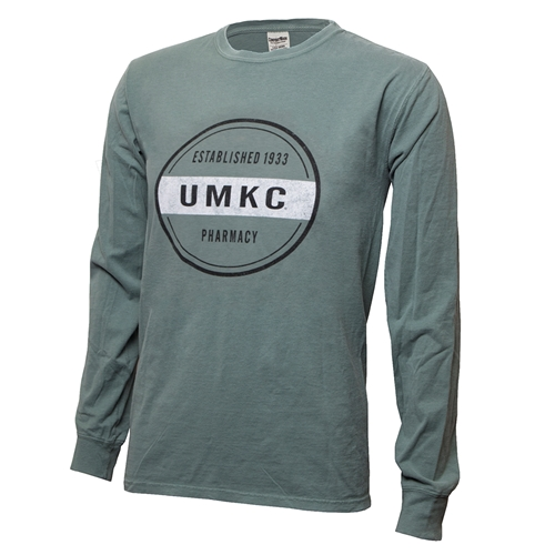 UMKC Established 1933 Pharmacy Green Crew Neck Shirt
