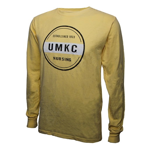UMKC Established 1933 Nursing Yellow Crew Neck Shirt