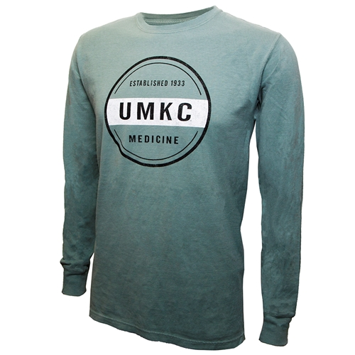 UMKC Established 1933 Medicine Green Crew Neck Shirt