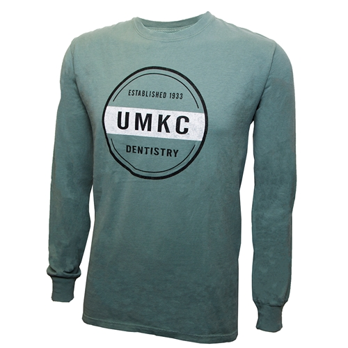 UMKC Established 1933 Dentistry Green Crew Neck Shirt